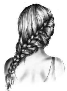 Drawing Girl with Braids 115 Best Drawing Hair Images