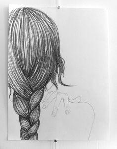 braid drawing woman hair sketch drawing techniques drawing drawing drawing