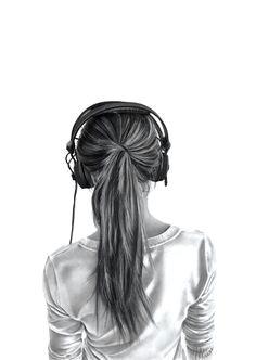 Drawing Girl with Headphones Auriculares Dibujos De Chicas En 2019 Drawings Art Y Art Drawings
