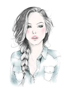 girl sketch eyewear fashion illustration ima draw this