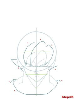drawing goku super saiyan from dragonball z tutorial step 05