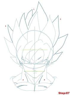 drawing goku super saiyan from dragonball z tutorial step 07 manga dragon son goku