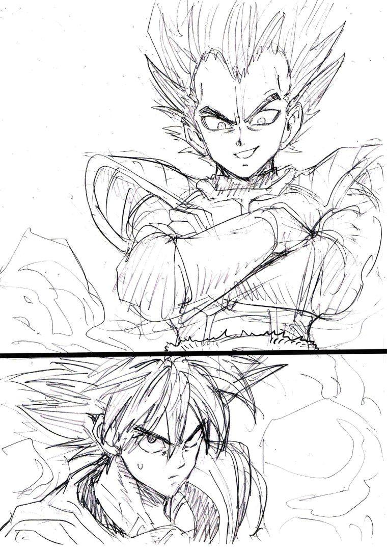 le dessinateur du manga one punch man a realise une belle serie de fan arts des personnages cultes de dragon ball