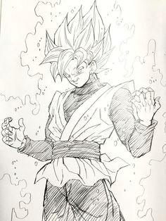super saiyan rose black goku image drawn by young yijii found by