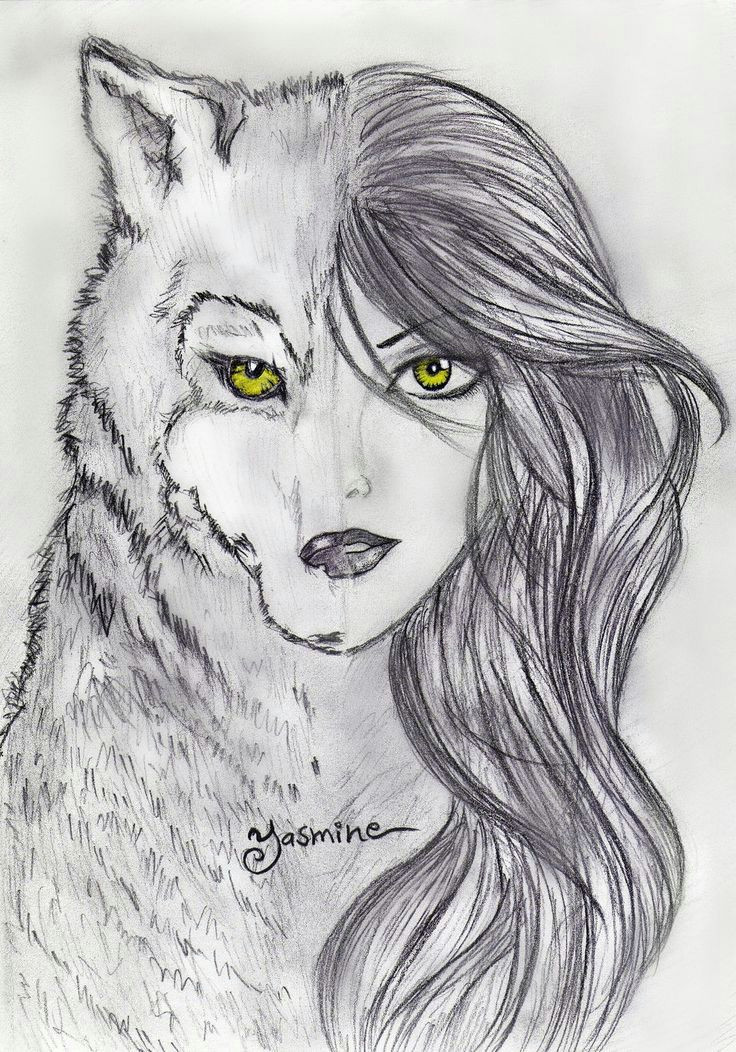 Drawing Half Wolf Pin by Evelyn Bone On Drawing In 2019 Drawings Art Art Drawings
