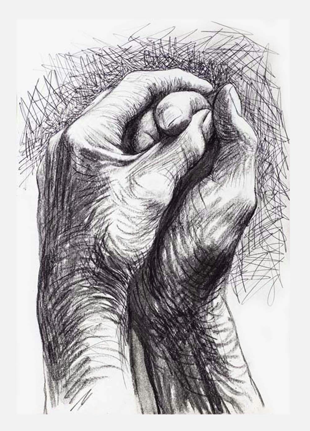 Drawing Hands Artist Cave to Canvas Alecshao Henry Moore the Artist S Hands 1974