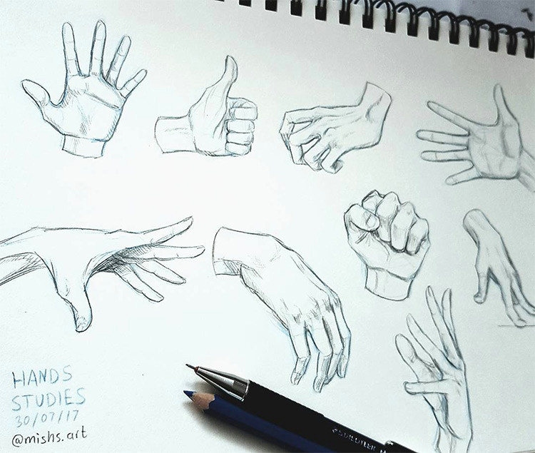 created by wonkbeast a sketchbook hand practice