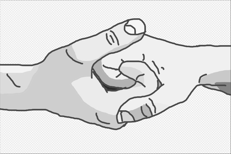 draw a couple holding hands alternative step 9 png