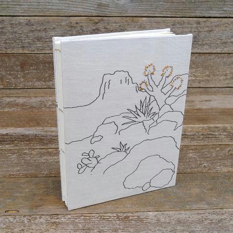 hand bound journal desert