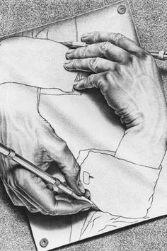 it is the function of art to renew our perception what we are familiar with escher drawing handsescher