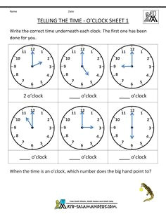 telling time worksheets o clock and half past first grade math worksheets clock