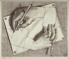 25 creative mathematical art pieces by maurits cornelis escher escher drawingsescher drawing handsart