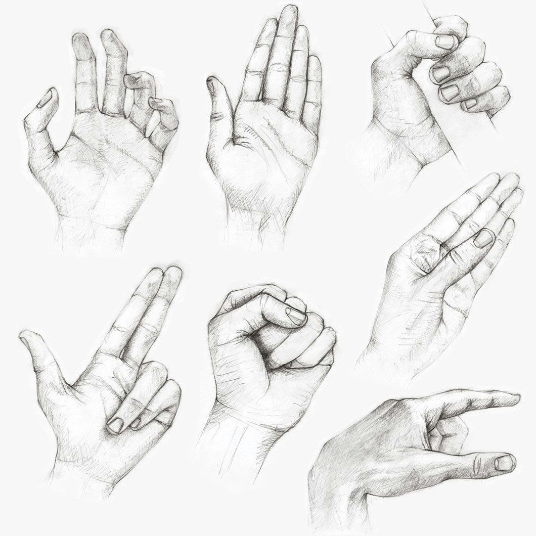 Drawing Hands Exercises Muchas Referencias Para Tus Dibujos A Drawing Reference