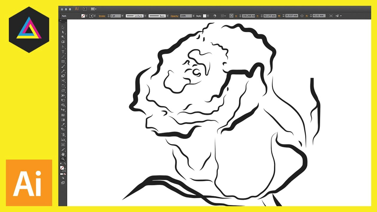 drawing with the pen tool pencil tool brush tool ep10 19 adobe illustrator for beginners youtube