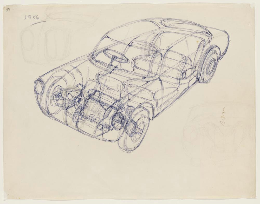 first concept of a front wheel drive transverse engine vehicle