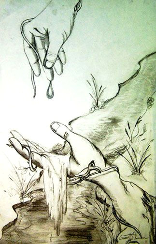 Drawing Hands Lesson Plan Art Lesson Plan Hand Scapes Pencil Drawing A Lesson A B Dali