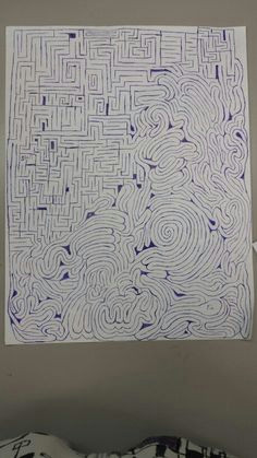 hand drawn try it there is an easy path and a hard one