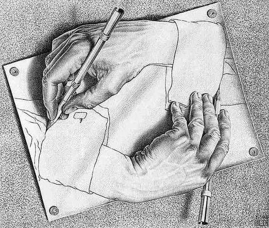 drawing hands mc escher