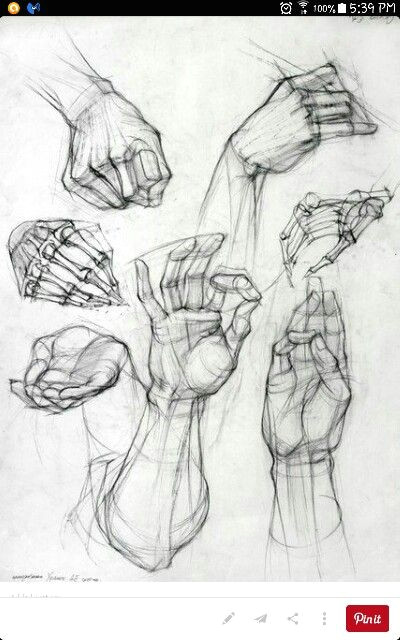 hand study to further my improvement on drawing hands