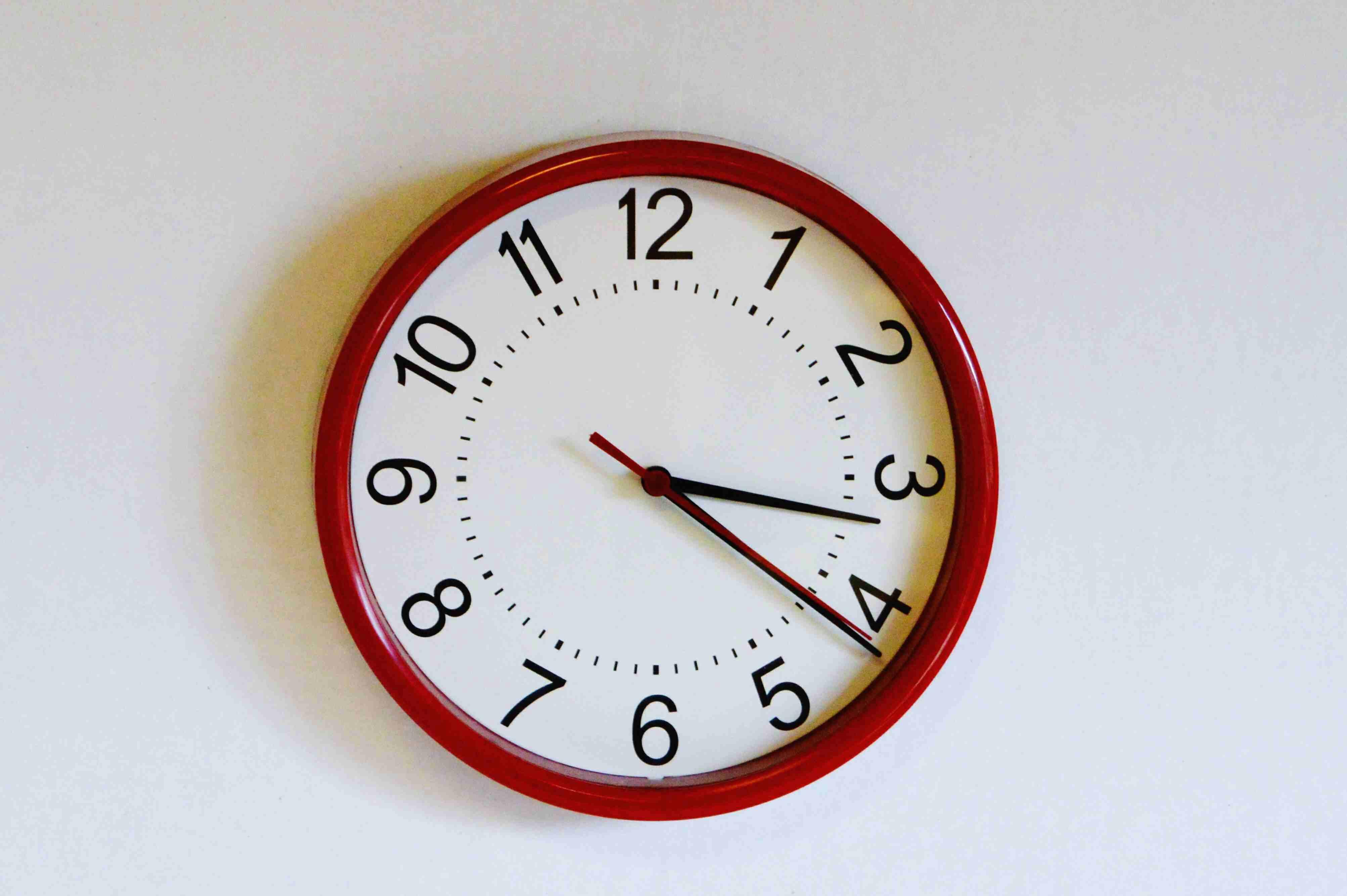 close up of wall clock