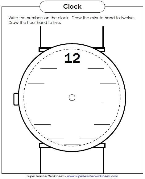Drawing Hands On A Clock Worksheet Analogue Clock Worksheets Clock Template with Hands New Clock Clock