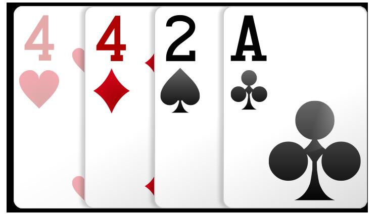 blatter aus drei karten