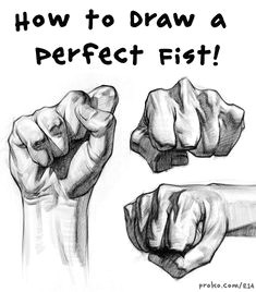 drawing a perfect fist hands in action
