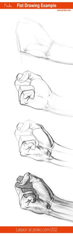 how to draw a fist hand drawing example