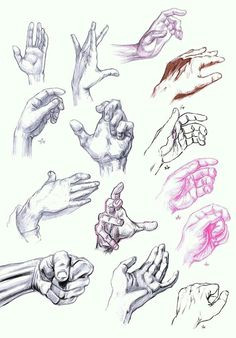 i had used these hand sketches to help develop my ability to draw and create hands in my art work and sketches these were just references