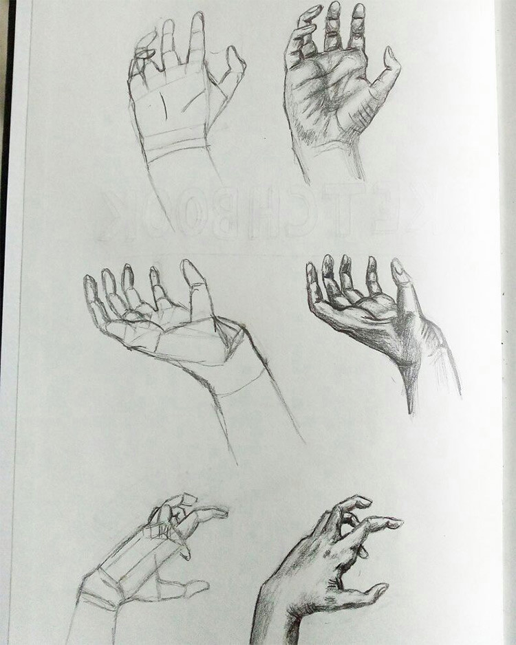 anatomy drawing practice fresh 100 drawings hands quick sketches amp