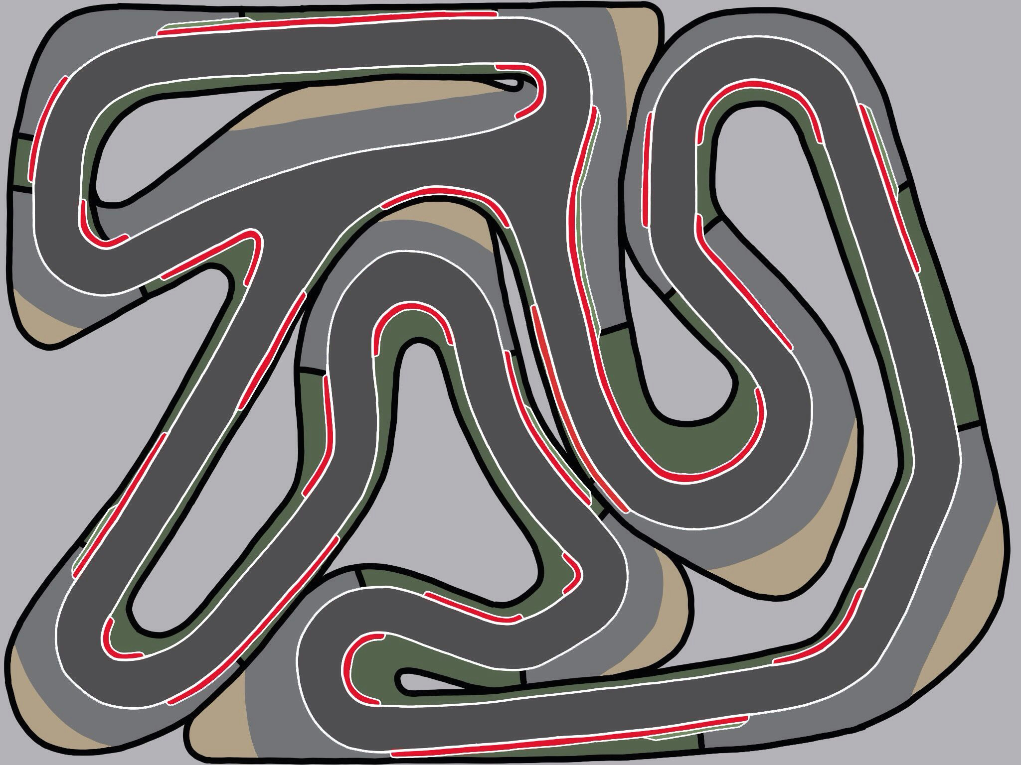 i signed up mainly to contribute to this subreddit as i ve been making race track designs all my life getting more detailed as time has passed of course