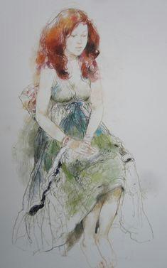 katie by victor ambrus figure drawings art drawings pastel portraits painted ladies