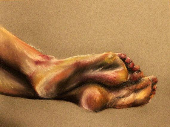 original feet drawing chalk pastel emilyryan philadelphia
