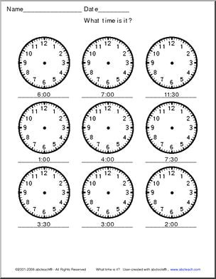 small p students should draw in the hands to match the digital br time 6 clocks landscape orientation p 0d 0a p strong common core