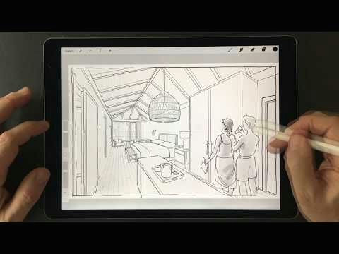 Drawing Hands Youtube Adding Hand Drawn Figures to Your Renderings Procreate Masterclass