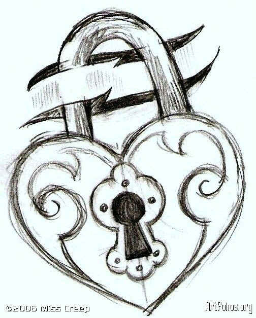 lock drawing arrow drawing easy drawings of love drawings of hearts easy