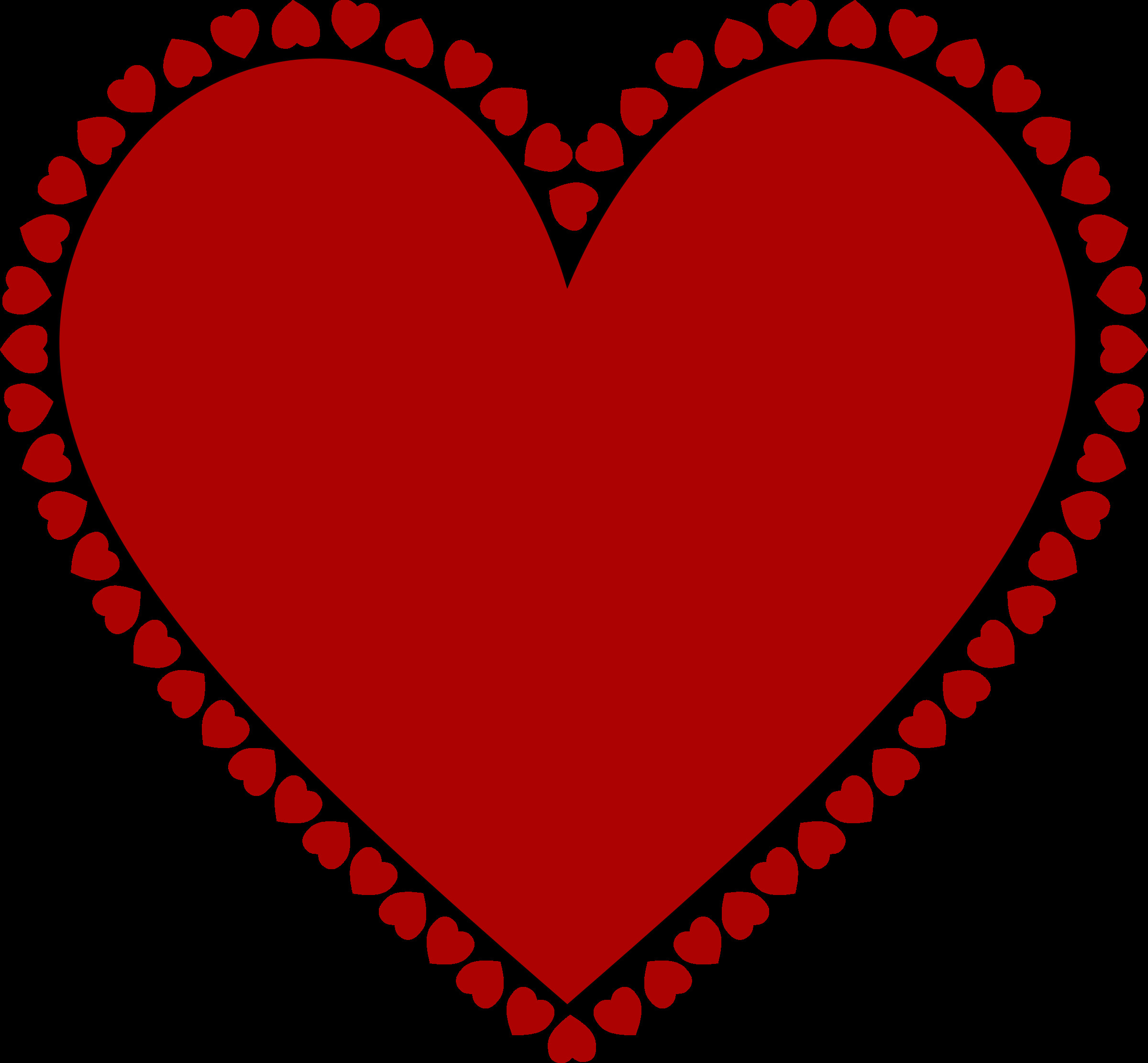 clipart frame of hearts