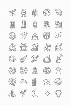 space icons on we heart it
