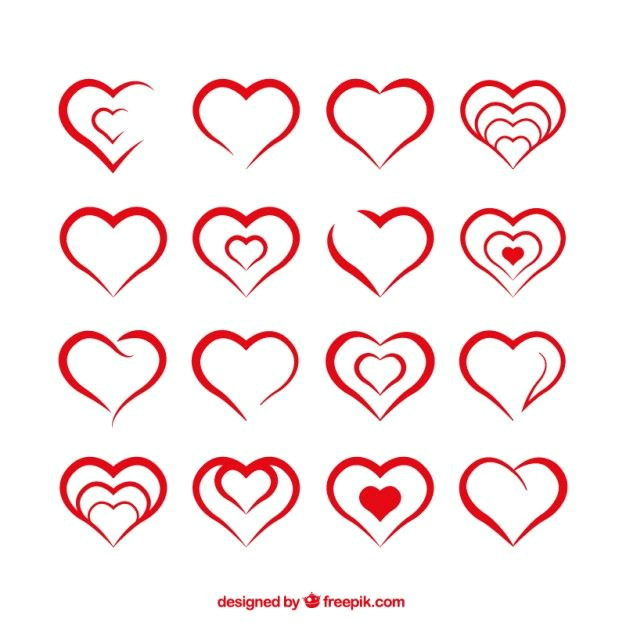 formas do coraa a o vetor gratis heart shapes template shape templates heart hands drawing