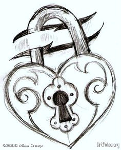tattoo that i m getting key and lock drawings heart