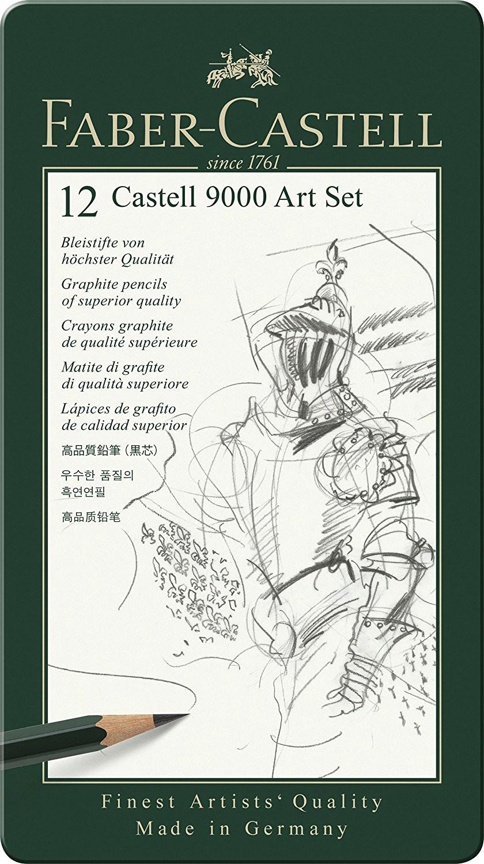 faber castell 119065 bleistift castell 9000 12er art set amazon de burobedarf schreibwaren