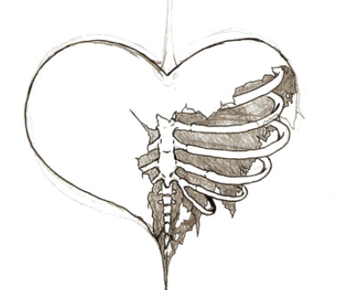 emo drawings od broken hearts broken hearts