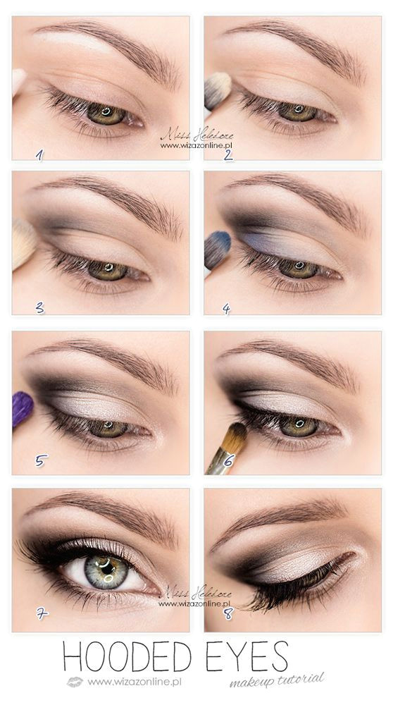 hooded eyes makeup this works so well for hooded eyes you wouldn t believe it until u try