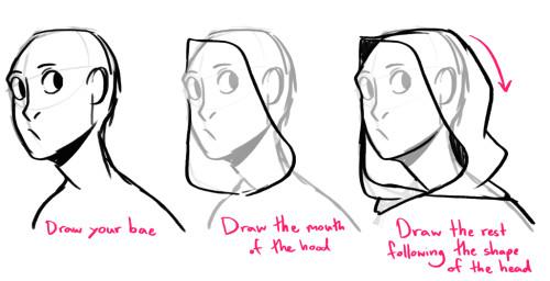 how do you draw hoods cloaks samijen