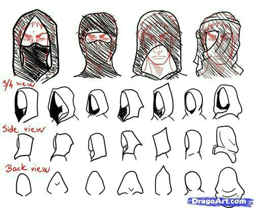 how to draw a hood mask text how to draw manga anime how to draw manga anime pinterest drawings art reference and drawing reference