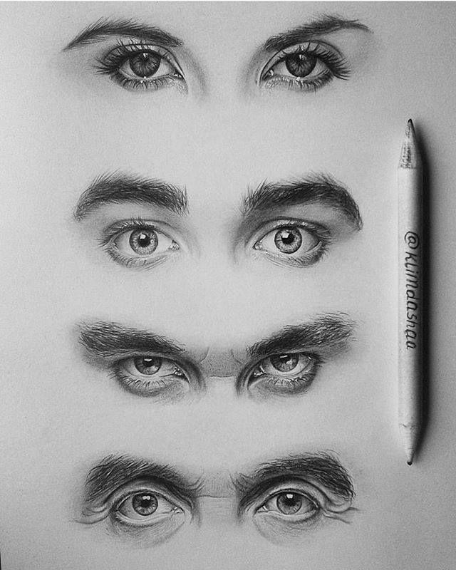 realistic eyes drawing by klimdashaa daily inspiration