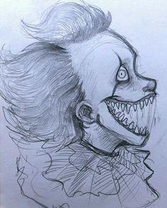 creepy drawings creepy art cute drawings croquis pennywise the dancing