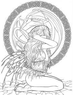 gothic dark fantasy coloring book fantasy art coloring by selina volume 6