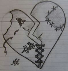shattered heart stiching