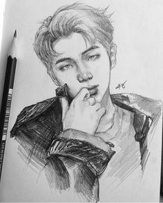d d d n n d n pencil art ikon bts drawings memes taehyung namjoon drawing